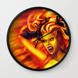 Mad Dolores Goddess of fire Wall Clock