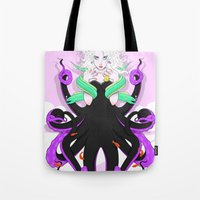 ursula Tote Bags featuring Ursula by Sergio Saucedo