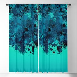 paint splatter on gradient pattern bt Blackout Curtain