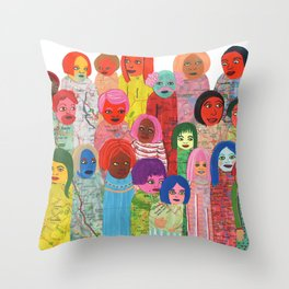 All the People Throw Pillow