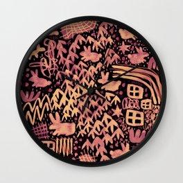 Autumn Bunnies Wall Clock