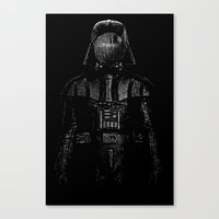 magritte Canvas Prints featuring Darth Magritte by Billy Allison