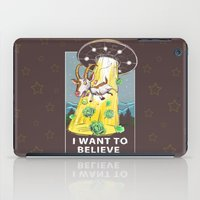 i want to believe iPad Cases featuring i want to believe by Tatyana Soynikova