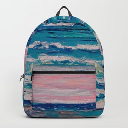 Binary Suns over the Sea and a Rock Backpack