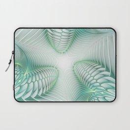 Ghost Busters - fractal - Slime - Lime - Manafold Art Laptop Sleeve