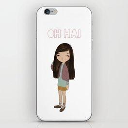 oh hai iPhone Skin