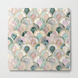 Marble Inlays Metal Print