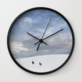 The Moon & Us Wall Clock