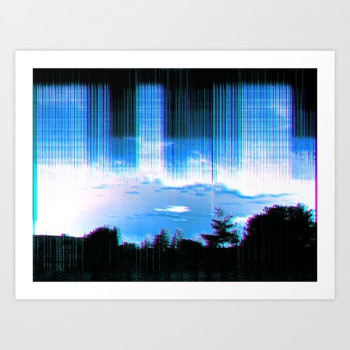 lo-fi storm Art Print