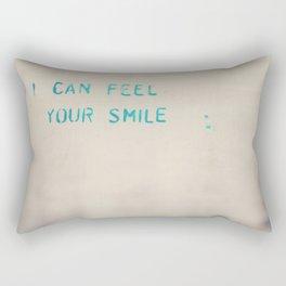 I can feel your smile graffiti ... Rectangular Pillow