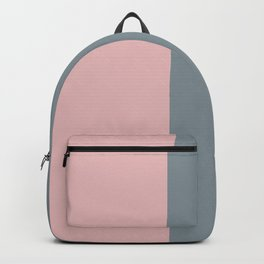 gray, grey pink, minimalistic, contemporary, elegant, chic, stripes Backpack