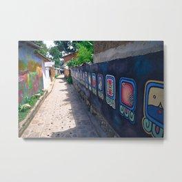 Guatemala - Nahual Street Art Metal Print