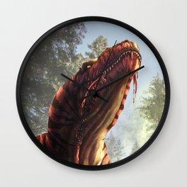 Tyrannosaurus Meal Wall Clock