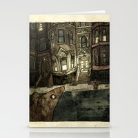 rat Stationery Cards featuring Rat by Jordan Walsh