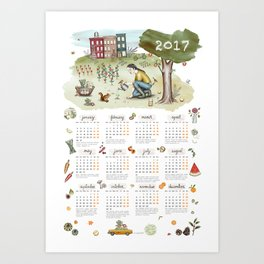 Brooklyn's life - 2017 CALENDAR Art Print