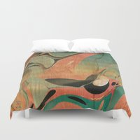 utah Duvet Covers featuring Abstract Painting ; Utah #2 by Lizzy Zumbaugh