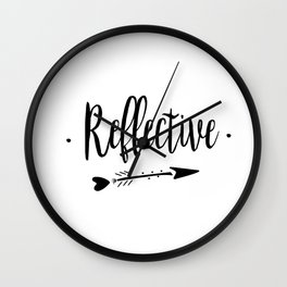 Reflective Lettering-PM coll Wall Clock