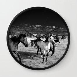 Roaming Mustangs 1 Wall Clock