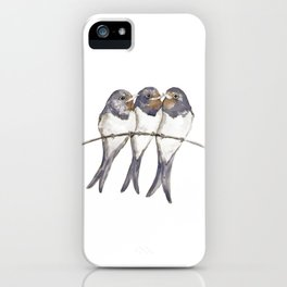 Three young swallows iPhone Case