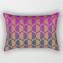 1974, magenta and brown Rectangular Pillow