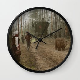 better watch out, he really likes mushrooms Wall Clock