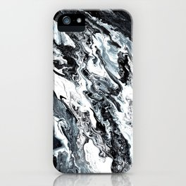 Marble in Black and White iPhone Case
