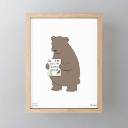 You're Doing Great Framed Mini Art Print
