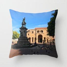 Plaza Colón in Santo Domingo Throw Pillow