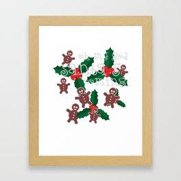oh my god..santa's is coming Framed Art Print