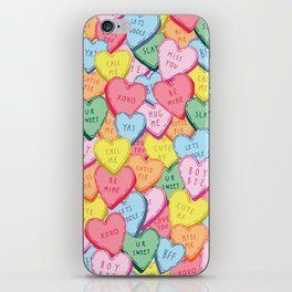 Candy Hearts Multicolour iPhone Skin