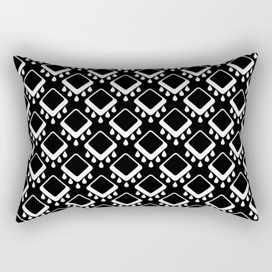 Abstract colorful geometric pattern . Black white . Rectangular Pillow