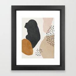 Woman silhouette art, Mid century modern art Framed Art Print