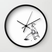 child Wall Clocks featuring Child by Claire Pope