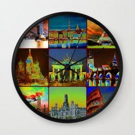 Historic Buildings Wall Clock
