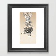 Bumlebee & flowers Framed Art Print
