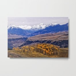 Mountain majesty and autumn gold Metal Print