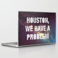houston Laptop & iPad Skins featuring Houston by Text Guy