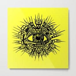 ALL-SEEING DEITY - EYE OF PROVIDENCE Metal Print