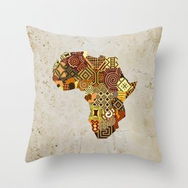 African Map II Throw Pillow