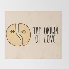 The Origin Of Love Throw Blanket