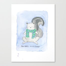 Squirrel in a Scarf Canvas Print