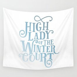 High Lady Winter Court Wall Tapestry