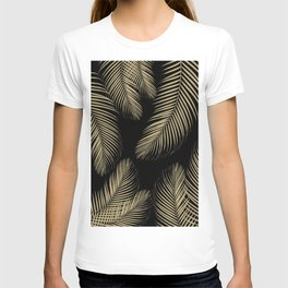 Palm Leaves - Gold Cali Vibes #4 #tropical #decor #art #society6 T-shirt