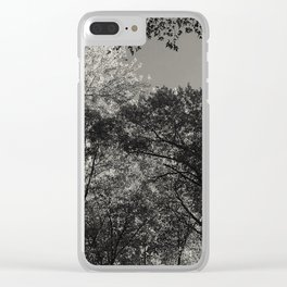At peace - forest Clear iPhone Case