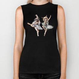 Hipster Ballerinas - Dog Cat Dancers Biker Tank