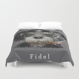 Fidel - The Havanese is the national dog of Cuba Duvet Cover
