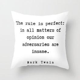 63    | Mark Twain Quotes | 190730 Throw Pillow