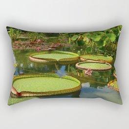 Waterlily Leaf Platters Rectangular Pillow