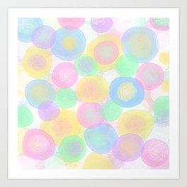 Baby Paramecium Dots Art Print