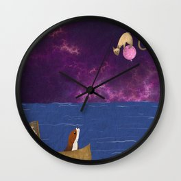 A Beagle and a Siamese Cat Wall Clock